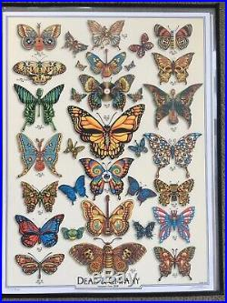 Dead and Company 2019 Summer Tour VIP Poster Emek Butterflies