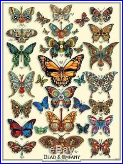 Dead and Company 2019 Summer Tour VIP Poster Emek Butterflies #4813