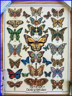 Dead and Company 2019 VIP Butterfly Poster signed by Artist