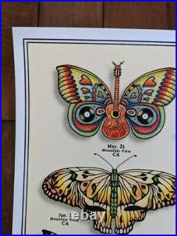 Dead and Company 2019 VIP Poster EMEK Butterflies Signed Numbered Print Mint