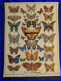 Dead and Company 2019 vip BUTTERFLIES EMEK SIGNED AND NUMBERED