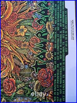 Dead and Company 2021 Tour VIP Poster signed & hand #d by EMEK 9/3 #1787