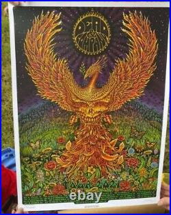 Dead and Company 2021 VIP silkscreen poster by emek