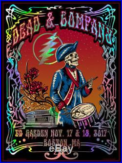 Dead & and Company Boston Poster Print DuBois Signed Numbered Foil TD Garden AE