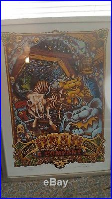Dead and Company Boulder 2017 poster 6/9/17 folsom field. Signed 312/650