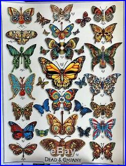 Dead and Company Butterfly Summer Tour 2019 VIP Poster