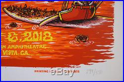 Dead and Company Chula Vista poster- July 6, 2018 artist Matt Leunig