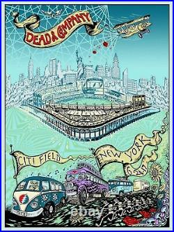 Dead and Company Citifield 2017 GDP Poster NYC Mike Dubois Limited Edition Foil