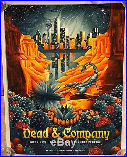 Dead and Company Dallas TX 2019 Poster by Shawn Ryan AP Signed Grateful Print