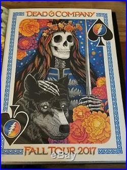 Dead and Company Fall Tour 2017 VIP Poster Vogl Dead & Co PHISH Grateful M/NM