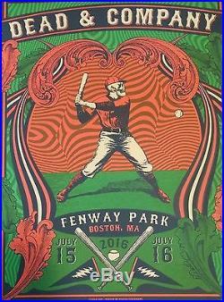 Dead and Company Fenway Park Boston MA Print 2016 Status Serigraph Poster GD50