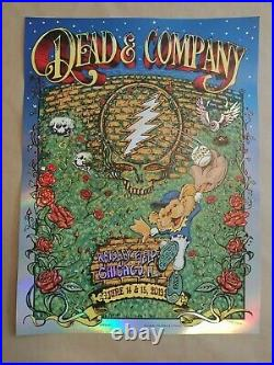 Dead and Company Foil Poster Summer Tour 2019 Chicago Wrigley Field