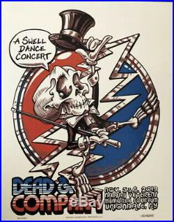 Dead and Company Offical Poster Nassau Coliseum New York 11/5/2019