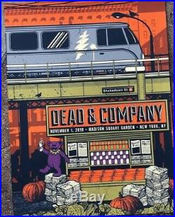 Dead & and Company Poster 2019 MSG New York 11/01