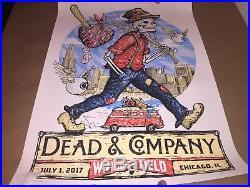 Dead and Company Poster 7/1/2017 Wrigley Field Chicago, IL Grateful Dead & Co