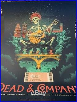 Dead and Company Poster Austin, TX 12/2/2017 Grateful Dead Poster