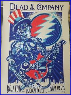 Dead and Company Poster Boston, MA 11/10/2015 First Tour Dead & Co Phish