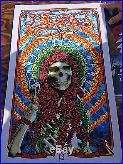 Dead and Company Poster Burgettstown PA July 13 2016 Artist Adam Pobiak