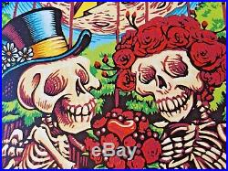 Dead and Company Poster Mansfield 2018 AJ Masthay AP SIGNED #/50 DOODLED