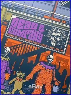 Dead and & Company Poster Matching # Set MSG New York 2019 S/N X/100
