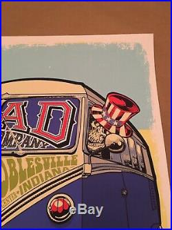 Dead and Company Poster Noblesville Indiana 2016 Klipsch Music Center Deer Creek