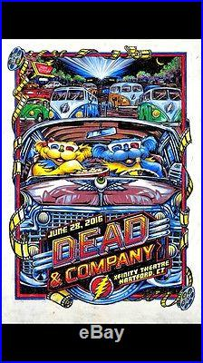 Dead and Company Poster Official Hartford CT 2016 AJ Masthay S/N