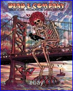Dead and Company Poster Philadelphia 8/21/2021