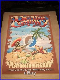 Dead and Company Poster Playing In The Sand Limited edition Mexico 495/550