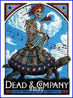 Dead and Company Poster Zeb Love Wheatland, CA 7/29 Toyota Ampitheater