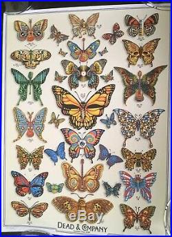 Dead and Company Summer 2019 VIP Poster BUTTERFLIES! Signed by EMEK