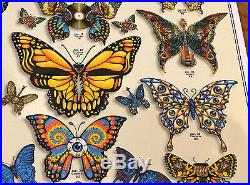 Dead and Company Summer 2019 VIP Poster BUTTERFLIES by EMEK Grateful Print