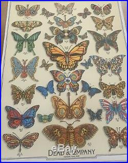 Dead and Company Summer 2019 VIP Poster Butterflies Signed by EMEK