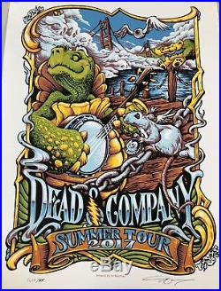 Dead and Company Summer Tour 2017 Poster Signed and Numbered by AJ Masthay