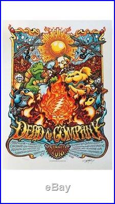 Dead and Company Summer Tour 2018 Poster Lockn', All Dates! Raleigh, Boulder