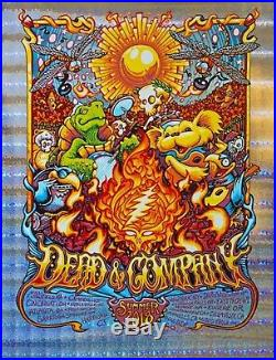 Dead and & Company Summer Tour 2018 Stained Glass Foil Poster S/N XX/50 Masthay