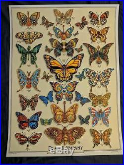Dead and Company Summer Tour 2019 VIP BUTTERFLY Poster Signed by Artist D&C & Co
