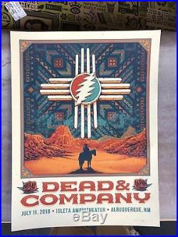 Dead and Company Tour Poster 7/11/2018 Isletta Albuquerque OFFICAL