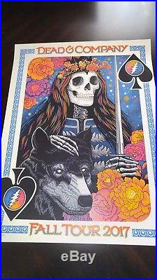 Dead and Company VIP Poster Fall Tour 2017 Signed & Numbered John Vogl Bungaloo