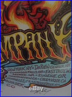 Dead and Company VIP Poster- Summer Tour 2018 Mint, numbered & signed