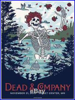 Dead and Company poster Minneapolis 11-21-2015 best offer