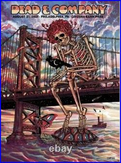 Dead and Company poster Philadelphia Citizens Bank Park 8/21/ 2021