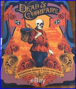 Dead and company Bonnaroo poster Status Serigraph Mint condition must see