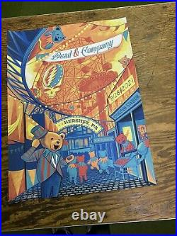 Dead and company hershey park poster Limited Edition! 539/1260