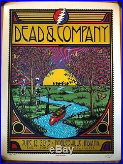 Dead and company poster 2019 Noblesville IN 6/12/19