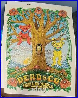 Dead and company poster 2021 tour opener-raleigh show MINT #551/910