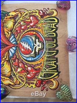 Dead and company poster AJ Masthay (wood foil)