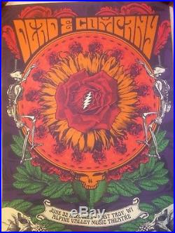Dead and company poster Alpine valley GDP 2018 Signed Limited Edition