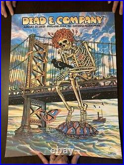 Dead and company poster Philadelphia Philly 8/21/21