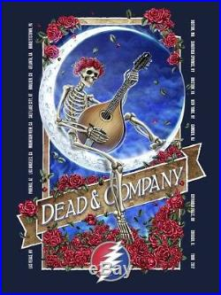 Dead and company poster signed and numbered