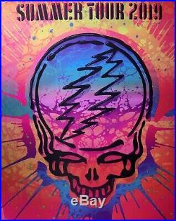 Dead & company poster 2019 concert tour grateful dead art neon 1225/1400 k arens